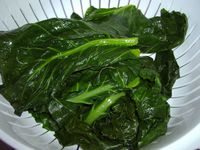 Boiled leaves
